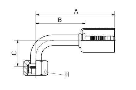 Refrigeration Hose Fitting - O-RING FEMALE 90° ELBOW product photo