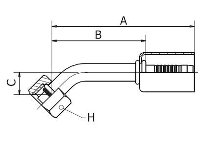 Refrigeration Hose Fitting - O-RING FEMALE 45° ELBOW photo du produit