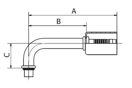 Refrigeration Hose Fitting - FITTING FOR EXPANSION VALVE 90° ELBOW photo du produit