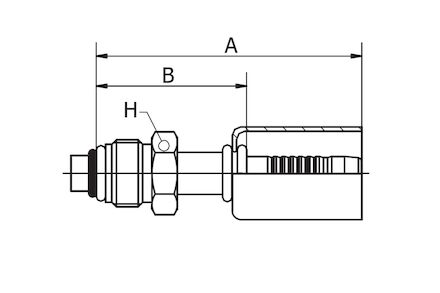Refrigeration Hose Fitting - STRAIGHT O-RING MALE photo du produit