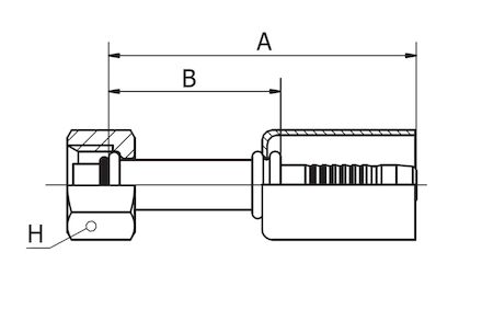 Refrigeration Hose Fitting - STRAIGHT O-RING FEMALE product photo