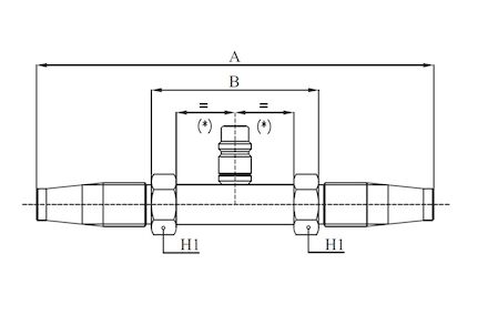 Straight Connection Fitting with Low Pressure Valve product photo