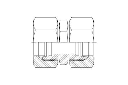 Snijringverbinding 24° - DIN 2353 - koppeling recht - serie Zwaar product photo