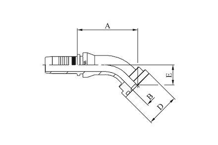 Hydraulic Hose Insert - 45° ISO/SAE CODE 61 FLANGE SFL - SAE J516 / ISO 12151-3 product photo
