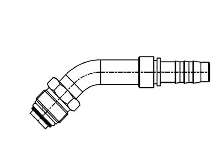 Refrigeration Hose Fitting - O-RING MALE 45° ELBOW product photo