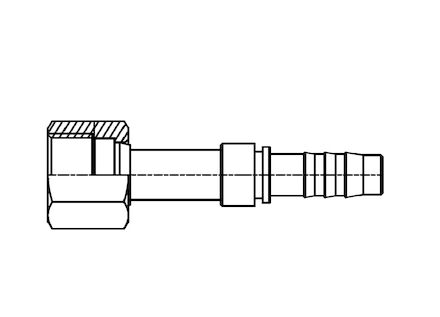Refrigeration Hose Fitting - STRAIGHT ORS FLAT SEAL FEMALE