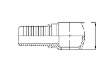 No-skive slangpilaar - Metrisch Banjo - DIN 7642 - voor Komatsu product photo