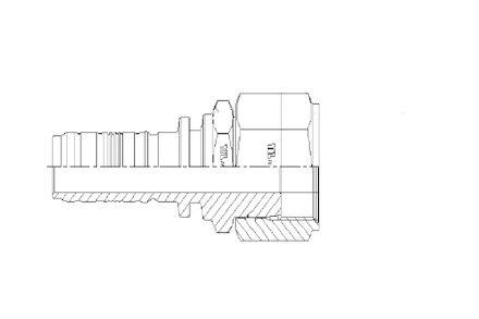 No-Skive slangpilaar - Recht - ORFS Binnendraad - Spiralfit type product photo