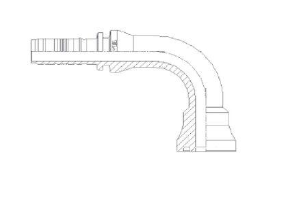 Spiralfit perskopp. 90gr. Flens 6000PSI XF product photo