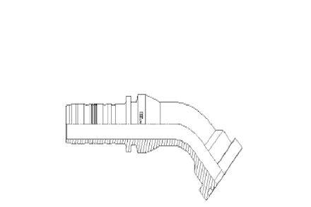 45° ISO/SAE Code 62 Flange product photo