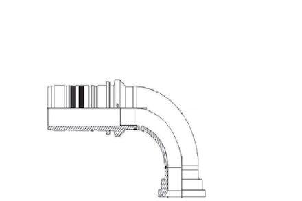 90° ISO/SAE Code 61 Flange product photo