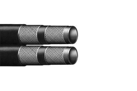 Thermoplastische hydrauliekslang 2 gevlochten polyester product photo