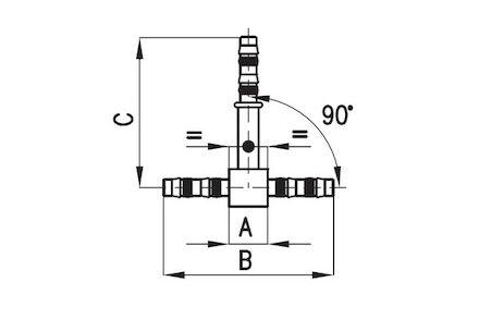 Koeling/airco slangkoppeling - T-stuk product photo
