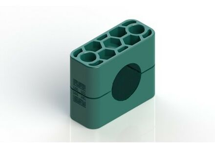 Polypropylene Green Tube Clamps Heavy Series Two Clamphalves Inside Smooth DIN 3015-2 (RCPG) photo du produit
