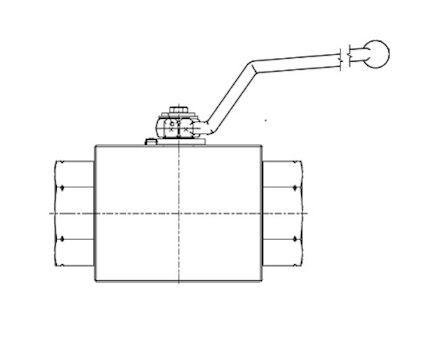 2-Way High-pressure Ball valve Metric Heavy Male product photo
