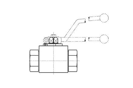 2-Way Ball valve BSP Female photo du produit