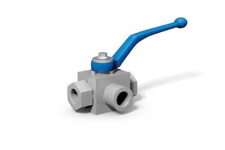 3-Way Selector Ball Valve Metric Heavy Male (L) product photo