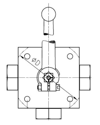 3-Way (Multi) Ball Valve BSP Female (L)