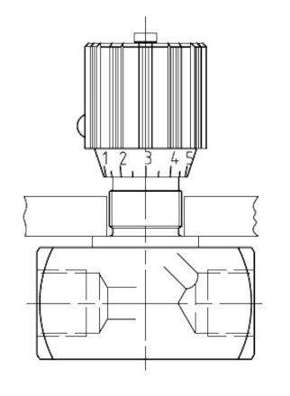 Naaldafsluiter-regelventiel BSP - NBR O-ring - 350 bar product photo