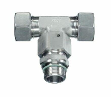 Trójnik niesymetryczny do Rur Metrycznych 24° DIN 2353 - seria Ciężka - stal nierdzewna - typ EL product photo