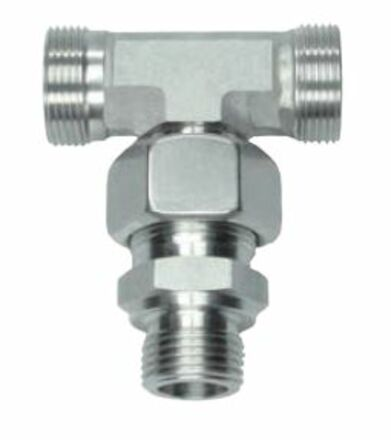 wivel Branch Tees Male Stud Type - Pre-Assembled Thread: BSP - Parallel product photo