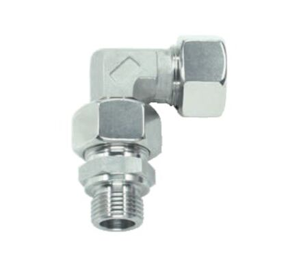Stainless tube fitting - EVW - Swivel Elbows Male Stud Type - Pre-Assembled - BSP thread product photo