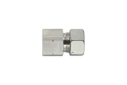 Stainless tube coupling - Stud Couplings Female Thread: NPT - Light Type - with Silver coated nut product photo