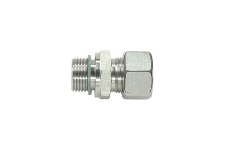 Stud Standpipe Connectors Pre-Assembled - Thread: Metric - Parallel - Sealing by an Elastomer Profiled Ring - Viton and Silver coated nut product photo