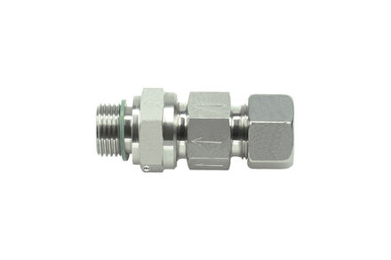Stainless Tube Coupling - Non-Return Valve - 24 degree Heavy type - Metric parallel with Peflex product photo