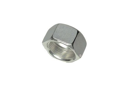 Stainless Nuts for Cutting Ring Connections - Tube size 12 - DIN 3870 + DIN EN ISO 8434-1 - Light type Silver Coated photo du produit