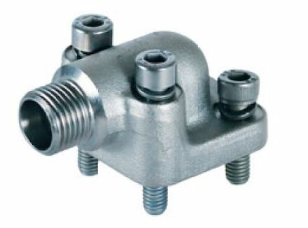 Pump Flange connection 90° – 24° DIN 3901 - including metric bolts and o-ring product photo