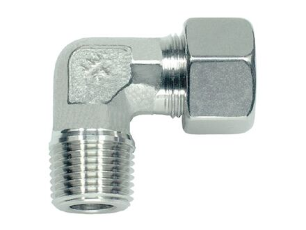 Snijringverbinding 24° RVS - kniekoppeling BSP - taps - serie Licht product photo