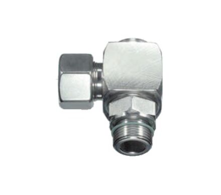 Stainless Rotary Elbow Tube Coupling - BSP Parallel and Viton soft seal - Light series product photo