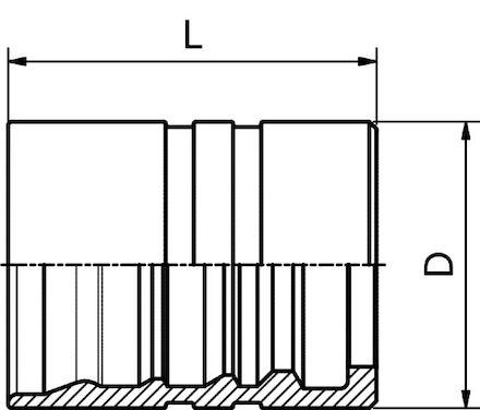 Double Skive (Interlock) Ferrule For Heavy Duty Hydraulic Hoses (4 spirals) product photo