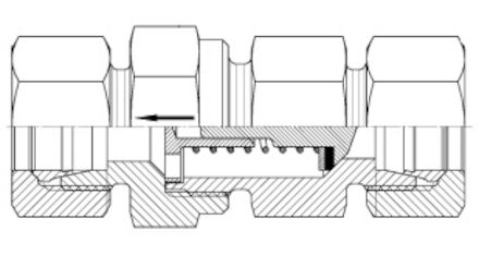 Snijringverbinding 24° - DIN 2353 - terugslagklep - serie Zwaar product photo