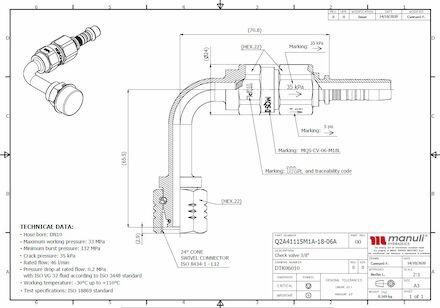 Check valve with Multifit hose insert Q2A41115M1A photo du produit