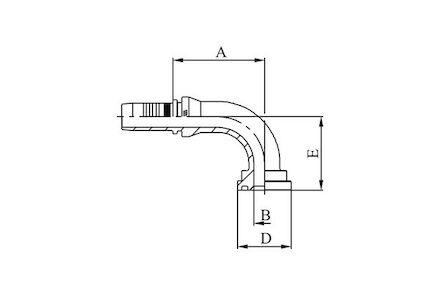 90° ISO/SAE CODE 61 FLANGE - SAE J516 / ISO 12151-3 photo du produit