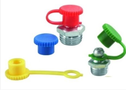 UMETA Protection Cap for grease nipples (plastic) - red with strap photo du produit