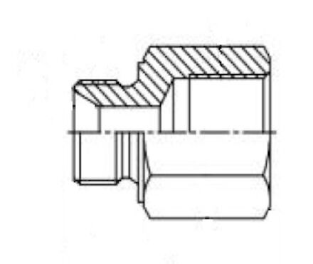 Straight Adaptor - Metric male - BSP female fixed photo du produit