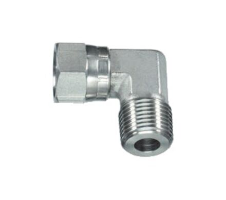 Stainless Adaptor 90° Elbow Male NPTF to Female JIC product photo
