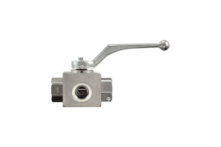 Stainless 3-way Ball Valve BSP L-bore (PTFE/FPM) photo du produit