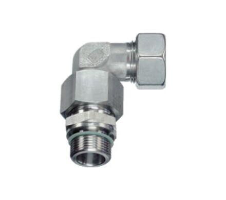 Snijringverbinding 24° RVS - instelbare koppeling male BSP DIN - serie Zwaar product photo