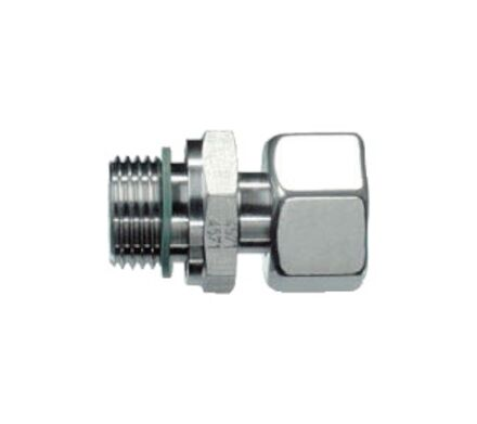 Stud Standpipe Connector Pre-Assembled Silver Coated Nut- Thread;BSP-Parallel - Sealing by an Elastomer Profiled Ring - Viton product photo