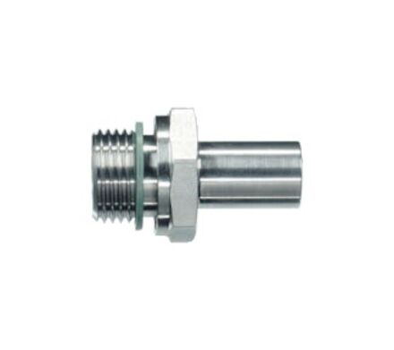 Stud Standpipe Connector Non-Assembled - Thread; Metric-Parallel - Sealing by an Elastomer Profiled Ring - Viton product photo