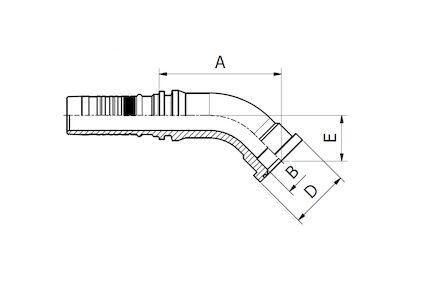 Końcówka do węża hydr. Interlock - ISO/SAE KOD 62 6000PSI FLANSZA SFS product photo