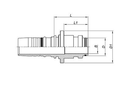 Super Staple-Lock Male Beater Flange product photo