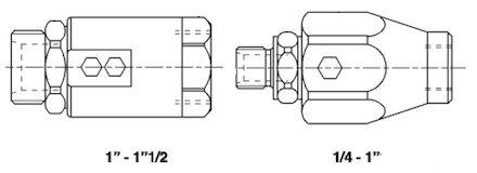 Adapteur femelle JA (type ORFS) - mâle gaz cylindrique (whitworth) photo du produit
