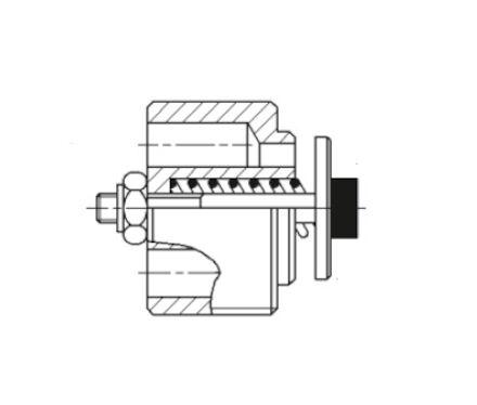 Hose burst cartridge valve BSP threaded photo du produit