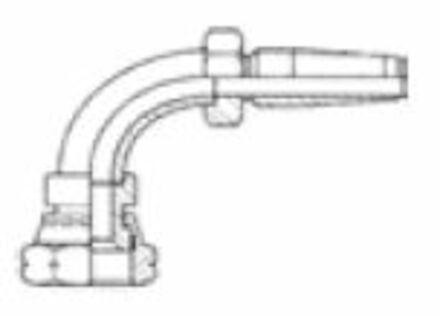 Reusable Insert R1-R2 elbow 90° female JIC/SAE photo du produit