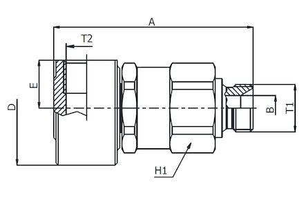 Swiv.Joint 90° Male Bsp -Fem.Bsp product photo